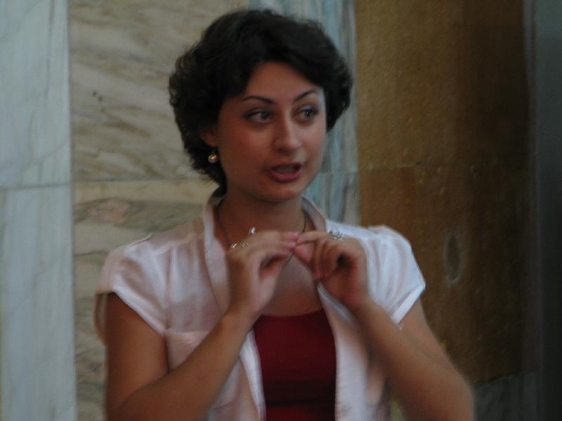 Бунецька Олена - Звітна зустріч учасників навчального візиту до Красніка 2010 08 09